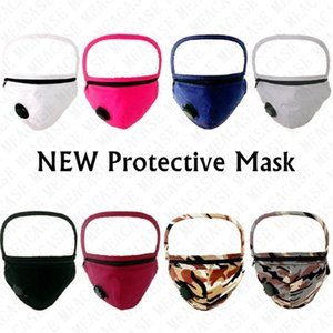 Designer Zipper Removable Face Masks Anti-fog Full Face Protective Masks Cotton Adjustable Can Installed Filters Cycling Mask Covers D72710