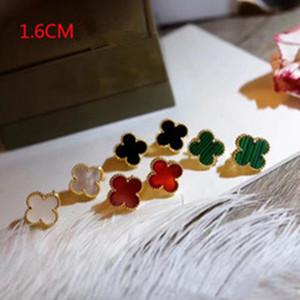 2020 vendita calda disegno materiale di Parigi orecchino di clip con le coperture della natura e ston agata a forma di fiore per le donne 1,6 centimetri orecchini regalo monili di marca