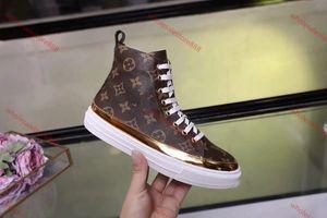 Louis Vuitton boots sual mid top, hommes lacée espadrilles chaussures respirant hommes de haute qualité des chaussures de sport de basket-ball RIVOLI SNEAKER BOOT