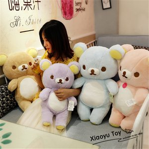 30 50 60cm Giant Rilakkuma Bear Plush Toys Life Size Relax Bear Pillow Dolls Soft Stuffed Animals Christmas Gifts MX200716