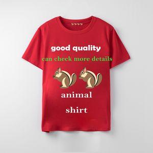 gucci shirt 20ss para mujer de la camiseta del estilo de Italia verano nuevo animal suelta la moda de algodón de impresión de manga corta camisas de los pares