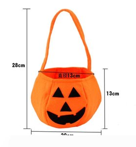 Halloween Trick or Treat Pumpkin Candy Bag Basket Cute Non-woven Pumpkin Bag Handheld pumpkin bag for children