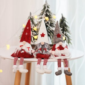 Christmas Doll Toys Santa Claus Snowman Elk Christmas Tree Hanging Ornament Decoration for Home Xmas Party Navidad Christma Gift