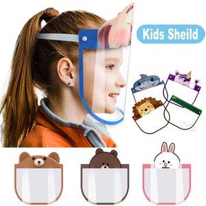 Bello all'ingrosso del fumetto del capretto Protezione Facciale trasparenti maschere di protezione antipolvere Anti-Fog Full Face scudo anti polvere PET Mask DHA487