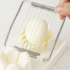 Creative Egg Slicer Cooking Tools 2in1 Cut Multifunction Kitchen Egg Slicer Sectione Cutter Mold Flower Edges Gadgets Home Tool VT1693