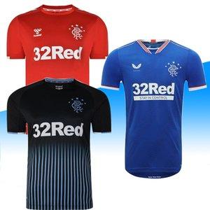 2020 New Rangers FC Black Edition Soccer Jerseys 2020 2021 black kits Glasgow Rangers equipment Football Shirt Uniform Maillot