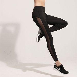 Fashion Women Ladies Fitness Workout Black Mesh Leggings for women pants sexy girl take exercise wear trousers