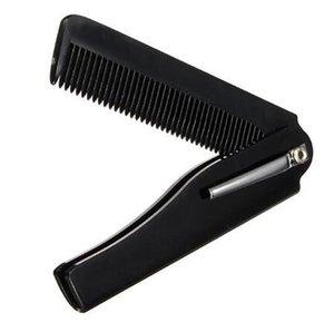 Beauté Santé 2018 de haute qualité 1 Pcs des femmes des hommes de beauté main pliant de poche pince à cheveux peigne Mustache Barbe Barbe Mise en forme Styling outil