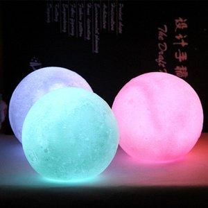 3D Print Moon Lamp Button Control LED Night Light Home 3D printing creative LED moon energy-saving atmosphere night light 10130