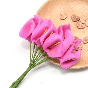 144Pcs Mini Foam Calla Artificial Lilies Simulation Flower Wedding Decoration DIY Bouquet Scrapbooking Decorative Flowers