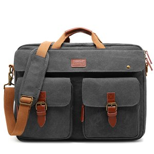 Men Convertible Shoulder Laptop Bag Business Briefcase Multifunctional Travel Rucksack Fits 17 Inch Computer Hand Bags XA307ZC