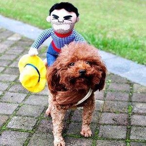 Yenilikçi Cadılar Bayramı Köpek Kostümler Pet Giyim Kovboy Köpekler Komik Fransız Bulldog Chihuahua Pug Giyim Ceket Palto kadar Giyinme