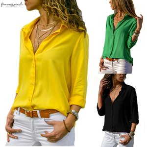Fashion Long Sleeve Plus Size Shirts Women Tops And Yellow Blouses Female Summer 2020 Sexy Red Black White Chiffon Tunic 3Xl