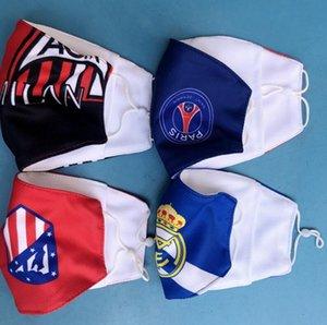 Futebol lembranças material de algodão da selecção nacional máscara de futebol basquete Dustproof Fãs máscaras respirável Outdoor Sports lavável reutilizável
