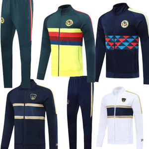 2020 P UNAM Mexique costume veste Club America survêtement de football C.BLANCO pleine fermeture éclair de football ensembles de formation de sport club 20 21