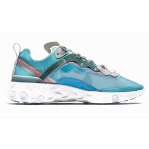 2020 react element 87 55 running shoes for mens womens Pack White Sneakers Marque Men Women Trainer Men Women Designer Running Shoes Zapatos
