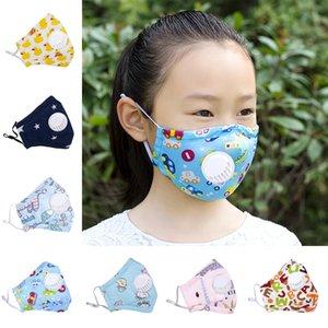 Masque visage enfants avec filtre Masques étudiants Cartoon visage lavable réutilisable de protection anti-poussière Masques Designer