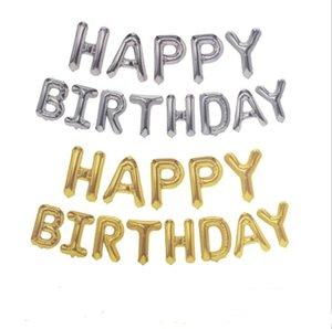 تاريخ الميلاد 16 بوصة خطابات HAPPY BIRTHDAY احباط بالونات عيد ميلاد سعيد الطرف الديكور للأطفال الأبجدية البالونات الطفل اللوازم دش AHE201