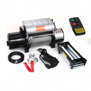 Aluminum control box integrated 12v 24v 13000 pound off-road winch With wireless remote control SVbt#