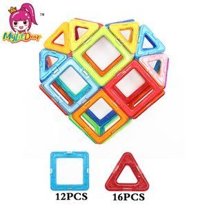 28PCS Mini Size Love Magnetic Building Blocks Model Toys Brick Enlighten Block Building Kits Magnetic Designer Toys For Children Y200414