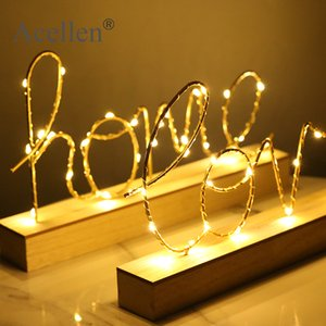 Home Decor Figurines Ornaments LED Lamp Light LOVE Letters Living Room Bedroom Layout Decoration Valentine's Birthday Gift T200703