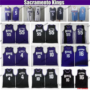 SacramentonbareisCidade De'Aaron Fox 5 Basketball Jersey Vintage Jason Williams Peja Stojakovic Chirs Webber Mike Bibby