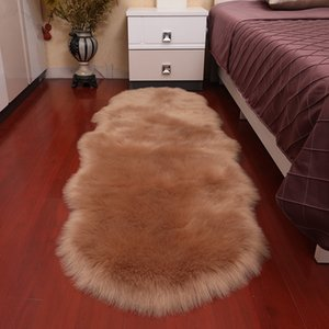 fur artificial sheepskin carpet floor mat imitation sofa cushion floating Sofa cushion wool Head wool windowmat
