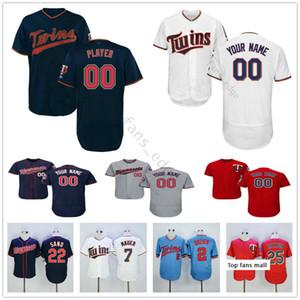 Custom Mens Stitched #49 Adalberto Mejia 43 Addison Reed 38 Blake Parker Brian Dozier Men Women Kids Youth Baseball Jerseys