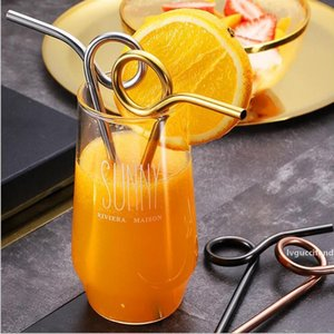 Factory Wholesale 195MM *6MM Stainless Steel Cocktail Straw Eco-Friendly Reusable Food Grade Sucker Juice Drinking Straw Metal Drinking Tool