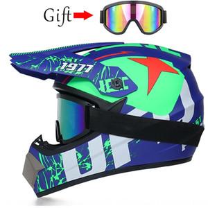 Hors route moto hors route course moto lunettes lumière montagne lunettes casque intégral Fox casque de course de montagne