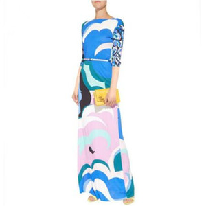 New arrival epucci Women's Wear Middle East Fashion Show Loose Large Size half sleeve Knitted Fashion Beautiful Dresses