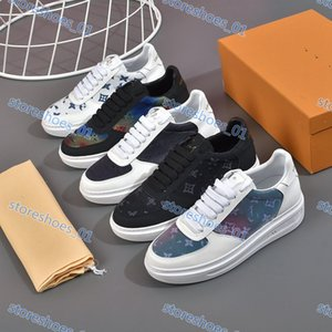 Xshfbcl High quality luxe designer men's ladies leather sneakers casual shoes classic wild simple shopping party flat sandals