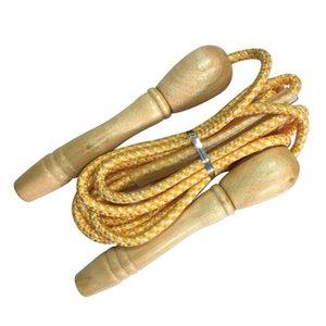 Alta calidad Deportes Skipping Rope empuñadura de madera Niños Kid equipo de la aptitud de Formación Práctica velocidad de salto