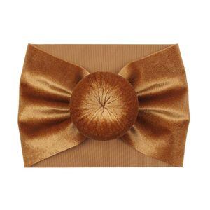 20200711 Baby autumn and winter elastic hair band velvet ball wide headband children's hair accessories