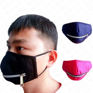 Newest Zipper Face Mask Washable Eat Drink In Public Quick Dry Masks Zip Solid Color Print Cycling Mouth Cover Scarf Boutique SALE D71508