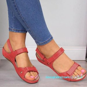 PU Leather Shoes For Women Sandals Casual Summer Shoes Flop Platform Sandals 2020 Ladies Fashion Roma Solid Peep Toe s03