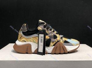 Versace sports shoes xshfbcl haute qualité nouvelles chaussures hommes classiques et à semelles femmes mode casual lacent des chaussures baskets couple chaussures de course 36-45
