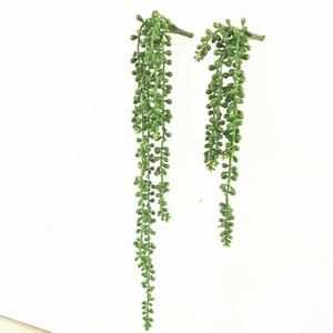 Yeni Yapay Senecıo radicans Succulents Plastik Yeşil Bitki Sahte Çiçek Bahçe Ev Ofis Dekorasyon Sahte Greenery Bitkiler