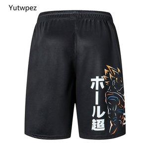 Yutwpez 2020 Nova Z GOKU solto Esporte Shorts Homens legal do verão Basketball Calças Curtas Hot Sale Sweatpants sem cinto