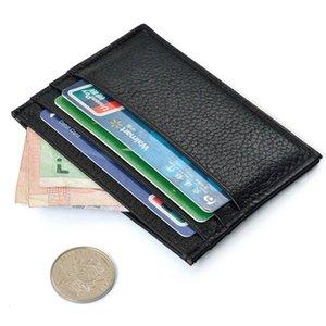 Porte-cartes d'homme prix plus bas Carte Slim crédit Porte-monnaie Mini ID sac Case Sac pochette noire en gros A30