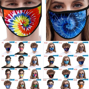 Impreso 3D Tie-dye Máscaras de diseño para hombres y mujeres niños hijos de seda del hielo de la boca máscara al aire libre a prueba de polvo máscara protectora DHL WX20-1