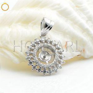 HOPEARL Bijoux en perles suspen- Argent 925 Zircon Petit pendentif Entouré Résultats 3 Pièces