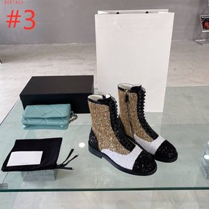 neAutumn winter w style color matching boots simple Martin boots all match chunky heel loe heel small fragrance side zipper women boots