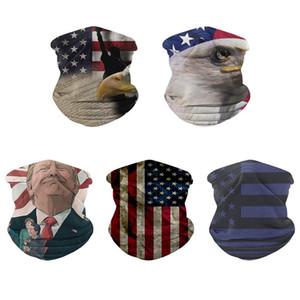세척 얼굴 재사용 넥 게이터 야외 자전거 매직 스카프 폴리 에스테르 섬유 손수건 머리 장식 국기 트럼프 6xS 설정 D2 마스크