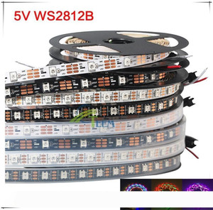 5m 60 LEDs m PCB WS2812B WS2812 píxeles blancos impermeable WS2811 IC 5050 color de la tira RGB SMD Digital Flexible de luz LED de 5V 00000