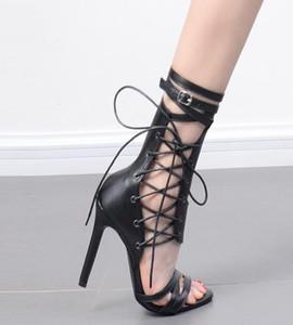 GUCCI Dior Chanel Givenchy UGG Christian Louboutin Sommer offene Spitze sexy Sandalen schwarz Aprikose Gürtelschnalle Gladiator Stilett-Absatzlederstiefel Nachtclub Schuhe für Frau