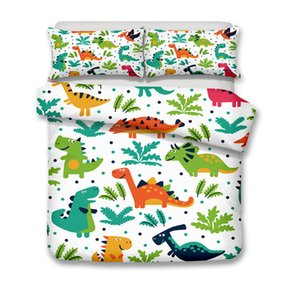 3D animal bedding sets dinosaur park printing modern new style bedding sets two or three piece suits