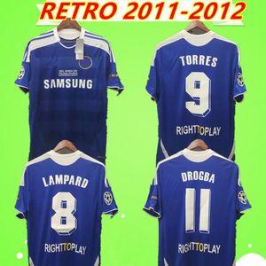 Chelsea TORRES MATA LAMPARD 2011 2012 RETRO camisas de futebol do vintage David Luiz TERRY camisas de futebol clássico casa azul camiseta DROGBA LUKALU Maillot