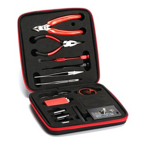 Bobina Padre Vape herramienta V2 Kit combinado Full Set Maestro DIY Kit V2 Ohm probador plantilla pinzas de alambre Alicates bolsa de transporte