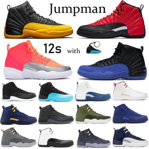 Erkekler basketbol ayakkabıları 12 12s Jumpman Siyah Üniversitesi Altın Sunrise yansıtıcı Spor Eğitmenler beyaz koyu gri koşu Sneakers yanardöner